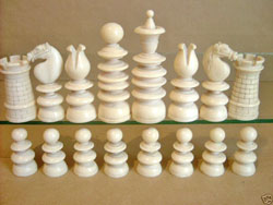 Ivory Calvert Chess Set